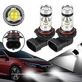 Yinroom Conduit Ampoules, 2X H8 H11 H16 3000K Ambre Jaune 100W Haute Puissance CREE LED Ampoule de Conduite de...