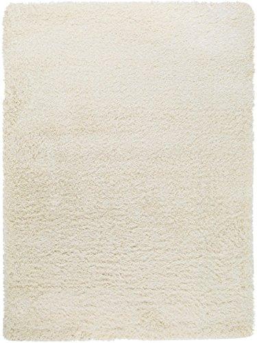 benuta  Langflor Teppich für Schlafzimmer und Wohnzimmer, Kunstfaser, weiß, 80 x 150 cm