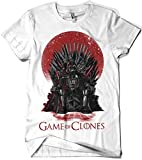 Camiseta Star Wars - Game of Thrones - Game of Clones (S, Blanco)