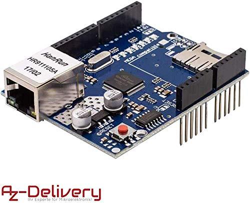 AZDelivery Ethernet Shield W5100 Internet para Arduino UNO R3 con eBook incluido