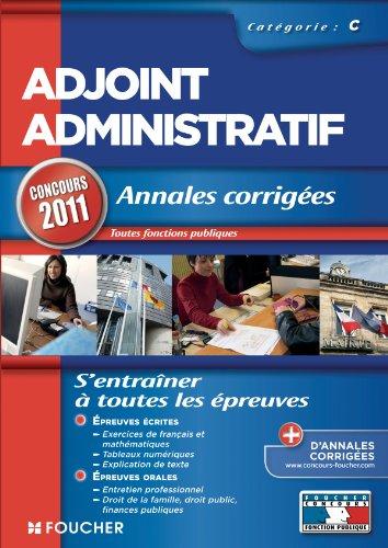 annales-corriges-adjoint-administratif-catgorie-c-concours-2011