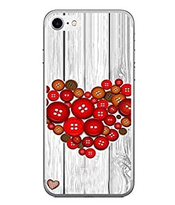PrintVisa Designer Back Case Cover for Apple iPhone 6S (multi colored buttons beautiful heart)