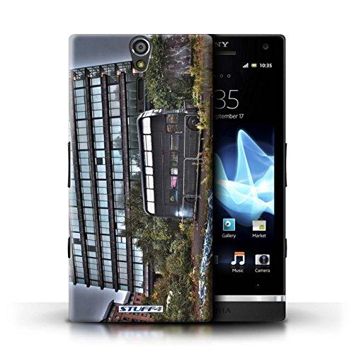 Kobalt® Imprimé Etui / Coque pour Sony Xperia S/LT26i / Rivière Thames conception / Série Londres Angleterre Abandonné Bus