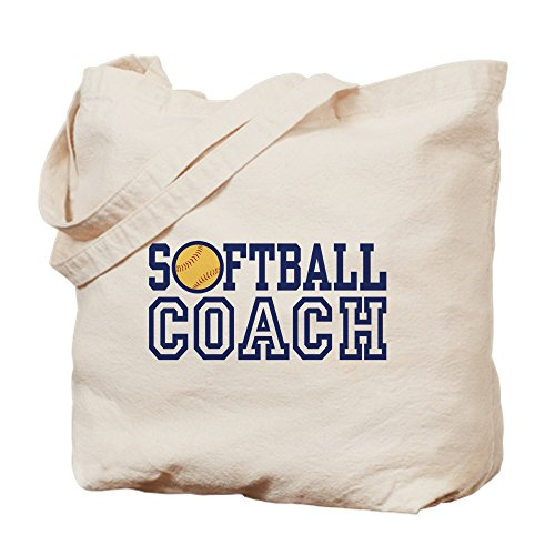 CafePress–Softball Coach–Leinwand Natur Tasche, Reinigungstuch Einkaufstasche (Vintage Taschen Coach)