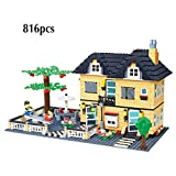 TTGE Villenmodell bausteine Spielzeug 816 stücke / 755 stücke / 909 stücke,A