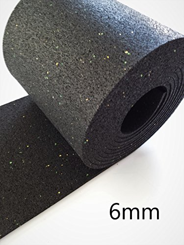 6mm Bautenschutzmatte 25 cm x 3 m Antirutschmatte Gummimatte Gummigranulat Matte