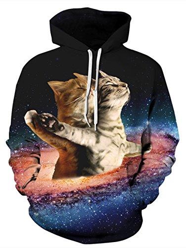 NEWISTAR Unisex 3d Druck Hoodies Kapuzenpullover Langarm Galaxy Bunte Pullover Kapuzenpull Sweatshirt Kapuzenjacke S/M