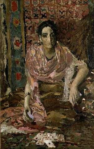 """Stampa artistica / Poster: Mikhail Aleksandrovich Vrubel """"The Fortune Teller, 1895"""" - stampa di alta qualità, immagini, poster artistici, 45x70 cm"""