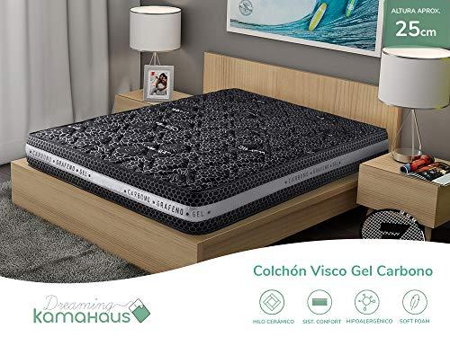Dreaming Kamahaus Visco Gel Carbono Colchón, con Viscoactive e Hilo cerámico, 150x190