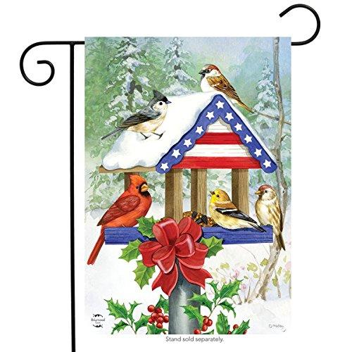 Briarwood Lane Patriotische Weihnachten Vogelfutterstation Garten Flagge Cardinal Meisen 31,8x 45,7cm