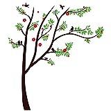 Home Decor Braun DIY Wandbild PVC-Baum Vögel Wandtattoo Aufkleber 1,15x 1,3m