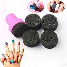 1Set Nail Art Esponja Sello estampado uñas polaco plantilla transferencia Manicura Uñas Diseño DIY herramientas