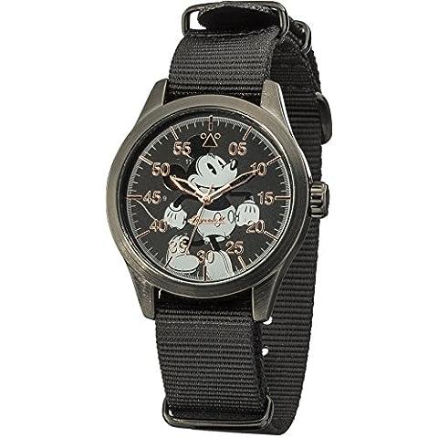 Disney by Ingersoll DIN008BKBK - Reloj de cuarzo infantil, con correa de nailon, color negro con diseño de