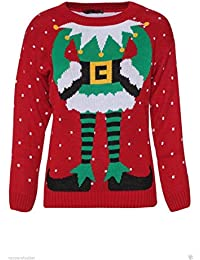 Ladies Womens Elf Body TOWIE Sam Christmas Xmas Jumper Sweater