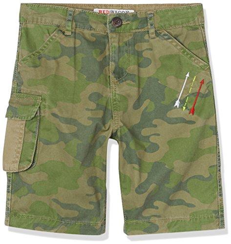 RED WAGON Jungen Shorts mit Camouflage Print, Grün (Green), 122 (Herstellergröße: 7 Jahre) (Baumwolle Shorts Pfeil)