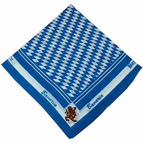 Halstuch Trachtentuch bayrisches Bandana Muster 53x53 türkis