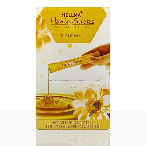 Hellma Honig-Sticks 8g Blütenhonig im Portionsstick