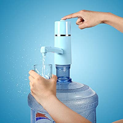 Haofy USB Wireless Rechargeable Electric Bottle Drinking Water Pump Dispenser Filter by Haofy