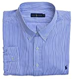 Ralph Lauren Big & Tall Hemd Button Down Sport Shirt Blau Weiß Gestreift (6XB)