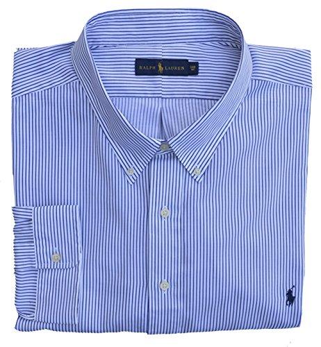 5d1231c3129d83 Ralph Lauren Big   Tall Hemd Button Down Sport Shirt Blau Weiß Gestreift  (6XB)