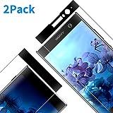 Vkaiy Verre Trempé pour Sony Xperia XA2, 3D Incurvé Couverture Complète Film Protection en Verre trempé Écran Protecteur Vitre, Ultra Résistant Dureté 9H pour Sony Xperia XA2[2 pièces]