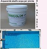 20 kg smalto membrana all 'acqua vernice azzurro chiaro piscine piscina resistente al cloro pittura per 50-100 metri quadri