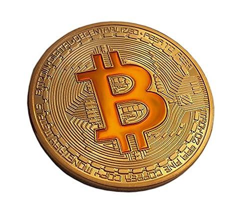 Rare Bitcoin Plaqué or pièce de monnaie à collectionner et de collection Superbe cadeau