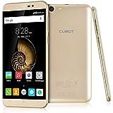 "Cubot Note S - Smartphone libre Android (Pantalla 5.5"" Cámara 5Mp, 16GB, Quad Core 1.3GHz), Dorado"