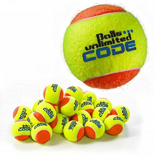 Balls ... unlimited Code Blue Tennisball, Drucklose Trainingsbälle - 60er Beutel - - Tennisbälle Drucklose