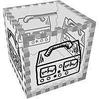 Preisvergleich für Azeeda 'Aufnahmegerät' Klar Sparbüchse / Spardose (MB00059229)