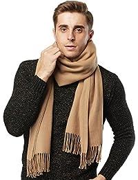 Bufanda de cachemira chal mujeres hombres pashmina Bufandas suaves de lana de invierno cálido Regalo para damas Niña chico, Grande Grueso negro gris rosado rojo azul -Camel