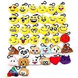 JZK 38pcs mini juguete de peluche, emoji llavero emoticonos llavero...