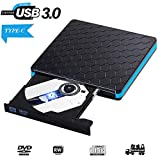 Graveur DVD Externe USB 3.0 Lecteur CD Externe Portable USB C CD DVD +/-RW ROM Player...