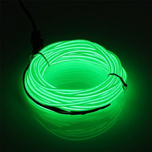 15' Flat-kabel (JIGUOOR EL Draht Super Bright Tragbare Kits für Halloween Weihnachtsfeier Dekoration, Weiß / Blau / Rot / Grün / Pink / Fluoreszierende Grün / Hellgrün / Gelb / Orange / Lila)