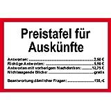 Amazon.de: PST-Schild - Erst 3 mal klopfen, dann 5 mal