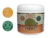 Pride Of India golden chai latte Instant Kurkuma Milch pulverisiert w/Ingwer, Zimt, Stevia & Pfeffer
