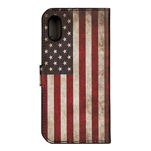 Coque pour iPhone 8, Frlife | Housse en Cuir PU pour iPhone 8 Coque avec Étui en Silicone, Protection Complète pour Votre Téléphone Portable couleur 6