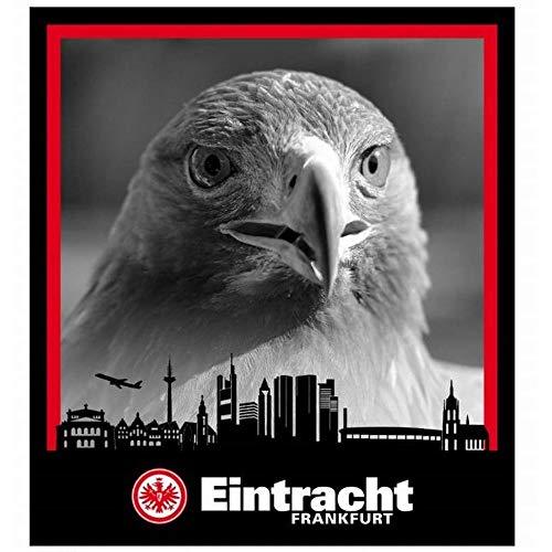 7f9e78cb55c531 Eintracht Frankfurt Coralfleecedecke Adler über Skyline 150x200 cm