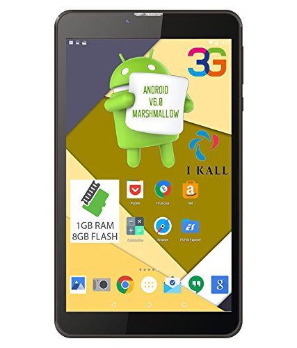 I KALL Dual Sim Voice Calling Tablet 1+8  GB  7 inch, Black  Tablets