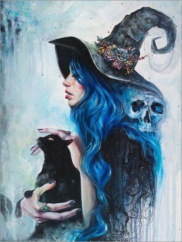 Poster 30 x 40 cm: Blau Valentine von Tanya Shatseva - Hochwertiger Kunstdruck, Kunstposter
