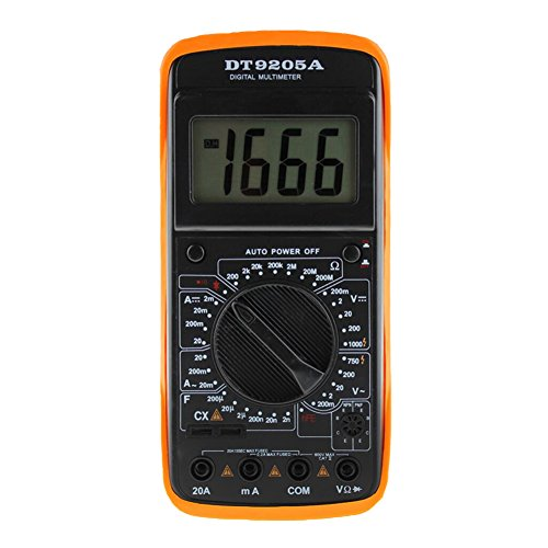 prettygood7 LCD Display Professional Electric Handheld Tester Digital AC DC Multimeter -