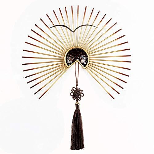 JJSPP Orientalische Möbel Wind Eisen Fan mit Quaste Anhänger (Size : 40CM) -