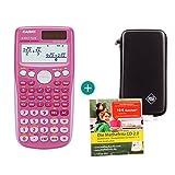 Casio FX 85 GT Plus Pink + Schutztasche + Lern-CD (auf Deutsch)
