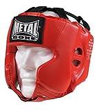 METAL BOXE MB117 Kopfschutz/Helm fürs Boxen/Kampfsport Kinder rot