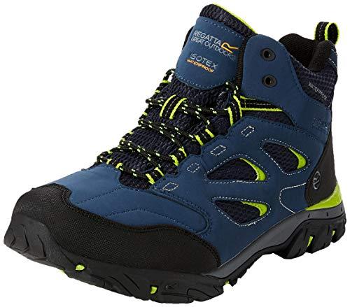 Regatta Herren Holcombe Iep Mid Rise Hiking Boot Trekking- & Wanderstiefel, Blau (Dark Denim/Lime Green 40c), 44 EU Mid-rise Boot