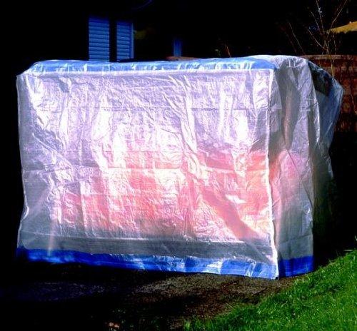 DANDLER Schutzhülle für Gartenschaukel 2-Sitzer, transparent, 36 x 24 x 7 cm, 562149
