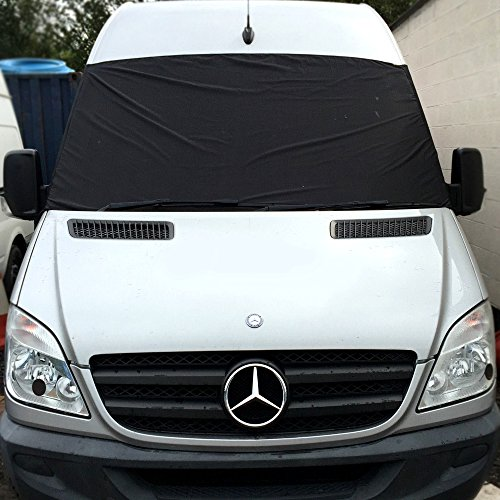 Sprinter 2006 - Present Motor Home Camper Motocross Van Fenster Display Cover winshild schwarz Out Rollo (Rollo-schwarz-out)