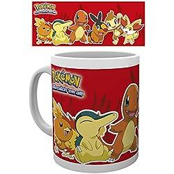 empireposter–Pokemon–Pokémon–Fire Partners–Tamaño (cm), aprox. 9,5–Tazas de licencia, Nuevo–Descripción:–Taza (cerámica, color blanco, estampado, Capacidad 320ml, producto oficial., apta para lavavajillas y microondas de