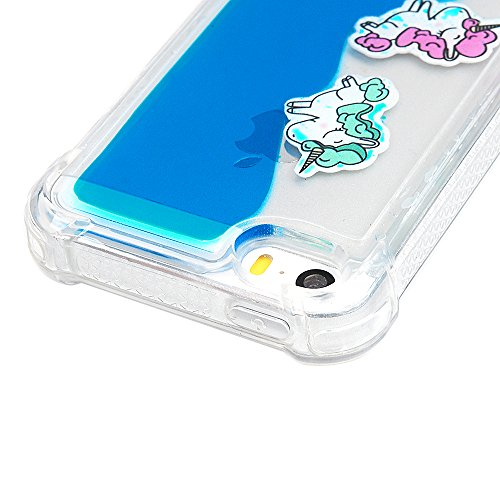 iPhone SE / 5S / 5 Coque Mavis's Diary Étui Housse TPU Silicone Gel Coque de Protection Transparente Liquide Bumper Phone Case Cover Antichoc Protection écran Swag pour iPhone 5, iPhone 5S, iPhone SE  Bleu