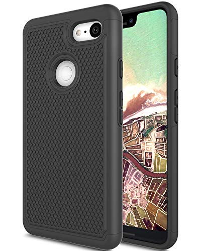 Google Pixel 3 XL Hülle, Google Pixel XL 3 Hülle, Asmart Drop Protection Case Google Pixel 3 XL Armor Defender Cover Dual Layer Schutzhülle für Google Pixel 3 XL (2018), Google Pixel 3 XL Black 3 Layer Soft Shell